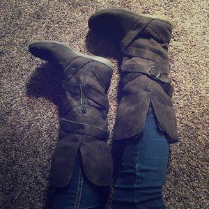 Shoes - Faux-Fur Line Boots
